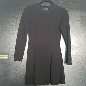 Black Zara Sweatshirt Long Sleeved Mini Dress